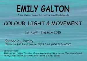 Exhibition April 2015 - Emily Galton